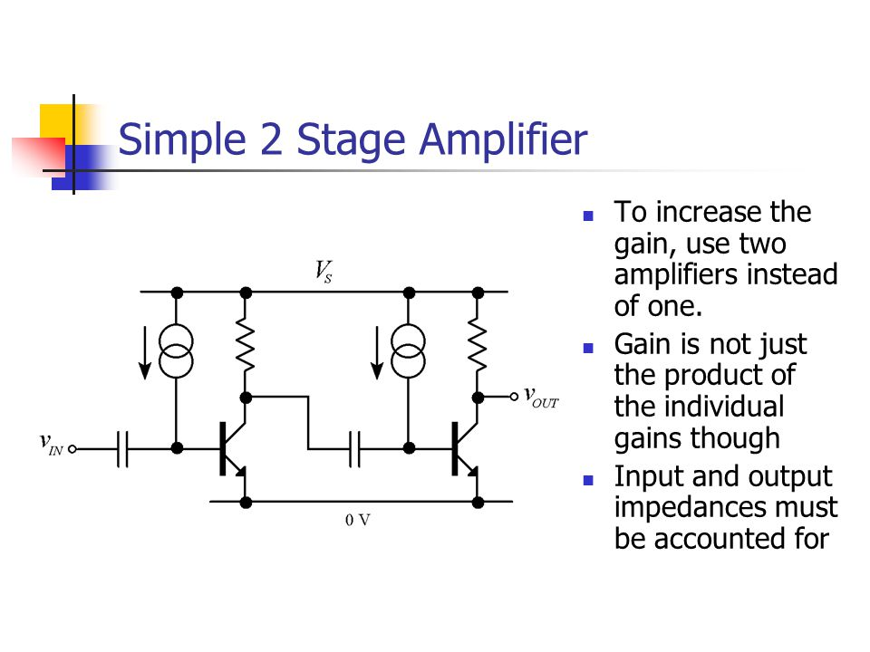 Simple 2 Stage Amplifier