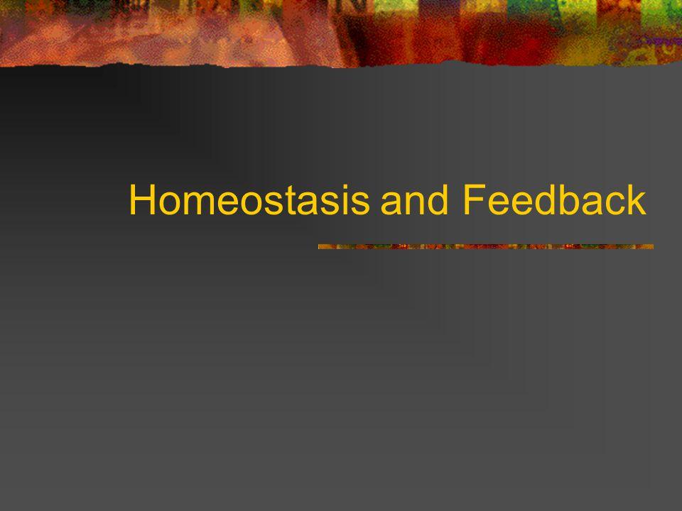 Homeostasis and Feedback