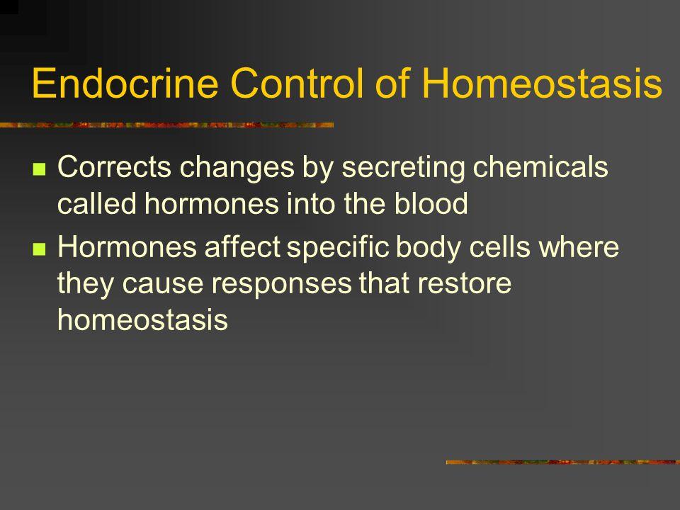 Endocrine Control of Homeostasis