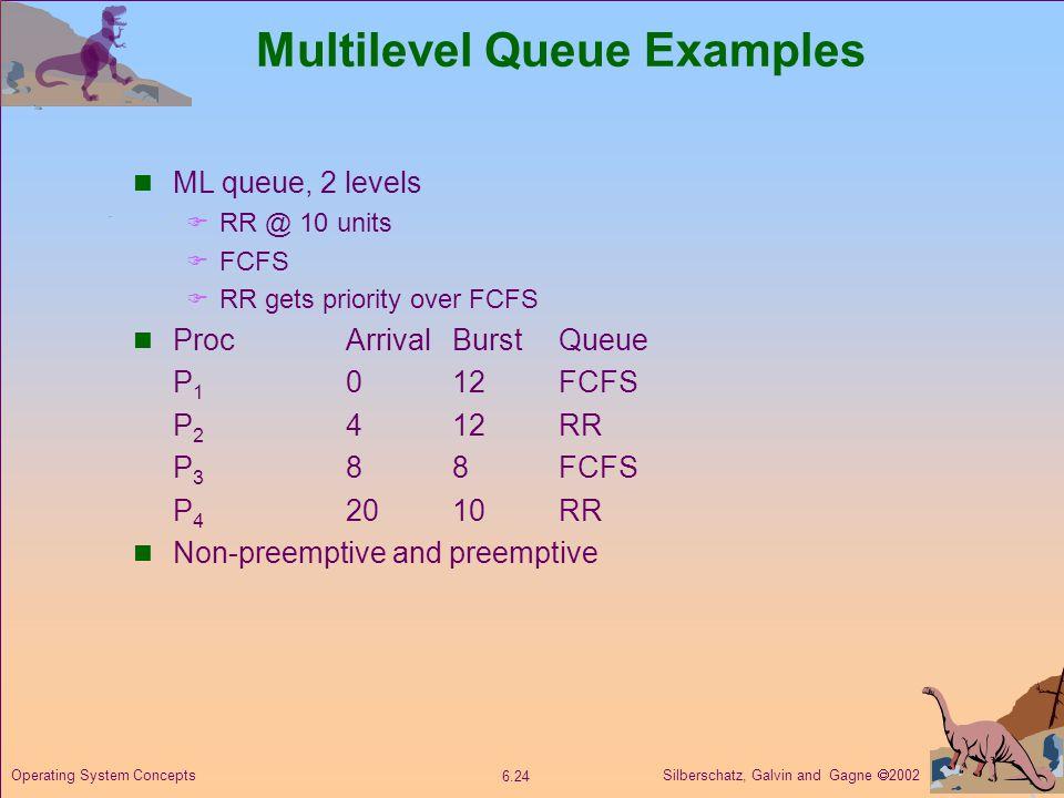 Multilevel Queue Examples