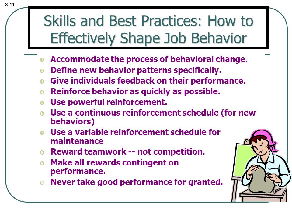 Skills and Best Practices: How to Effectively Shape Job Behavior