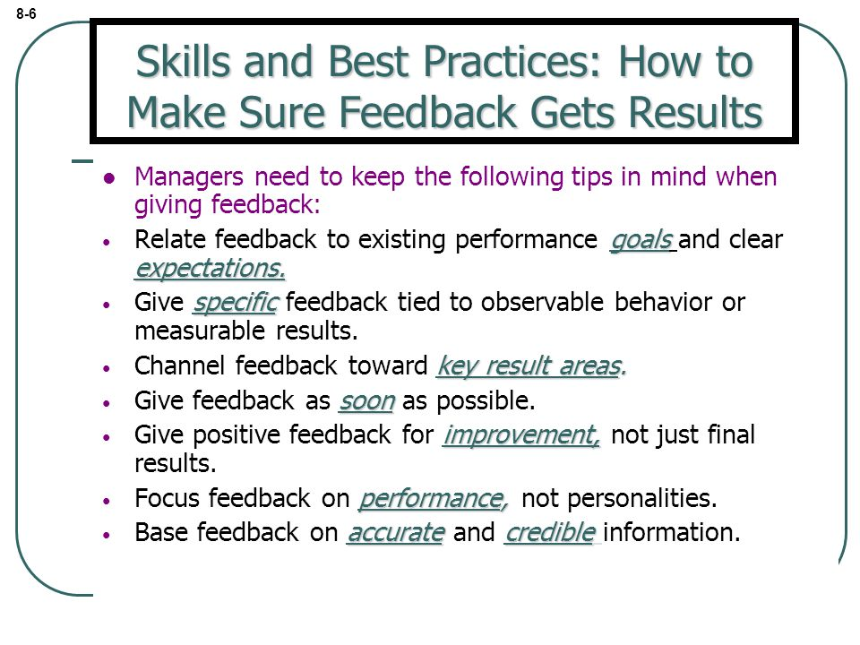Skills and Best Practices: How to Make Sure Feedback Gets Results