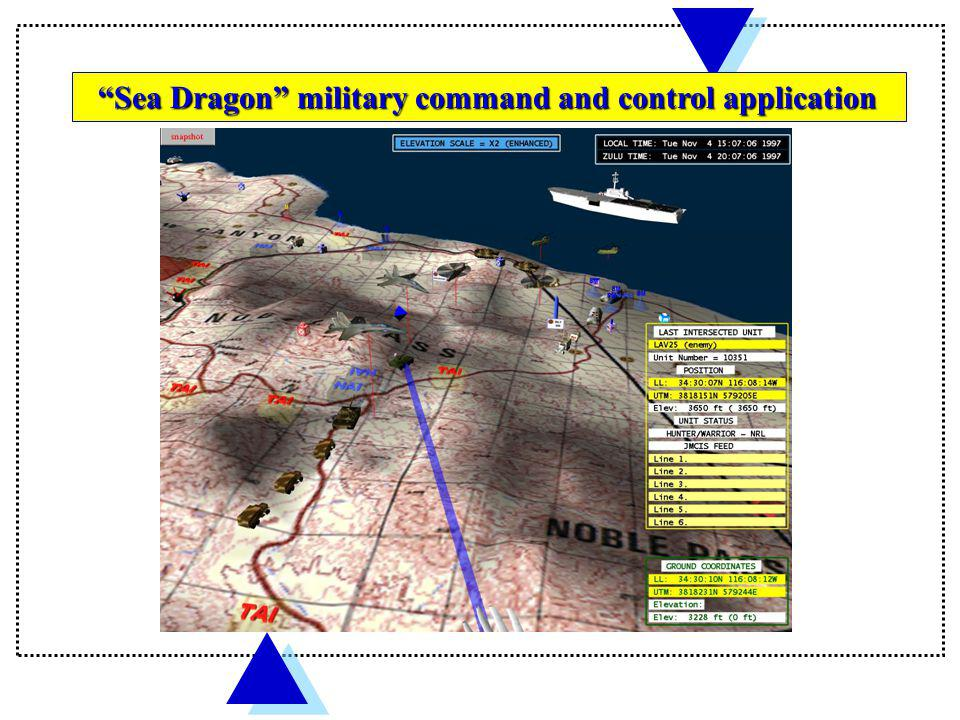 Sea Dragon military command and control application