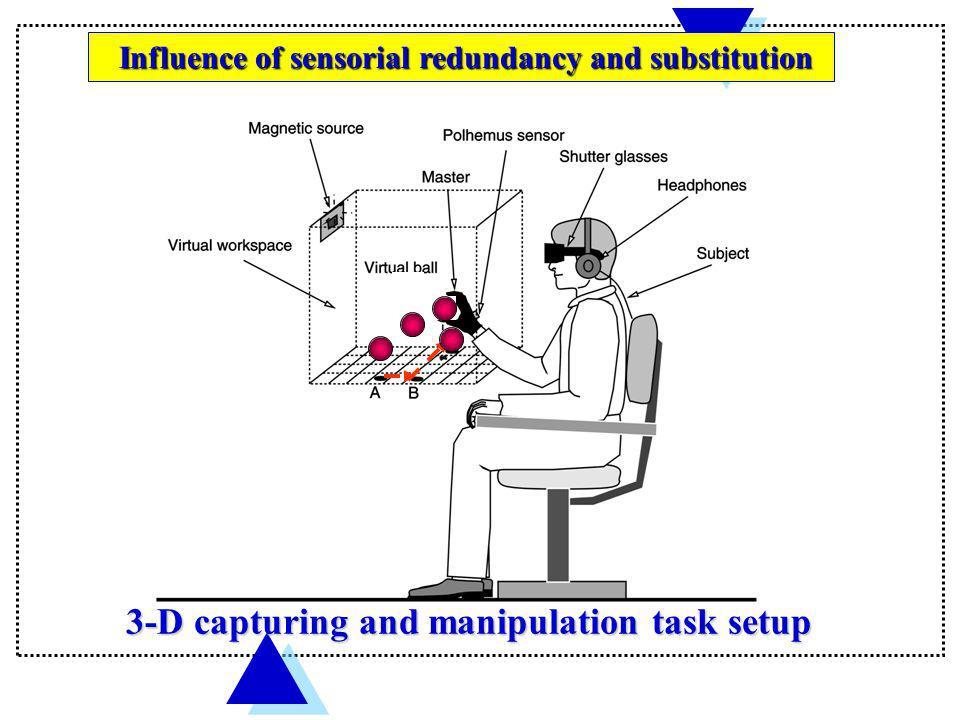 3-D capturing and manipulation task setup