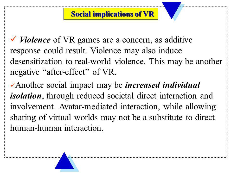 Social implications of VR