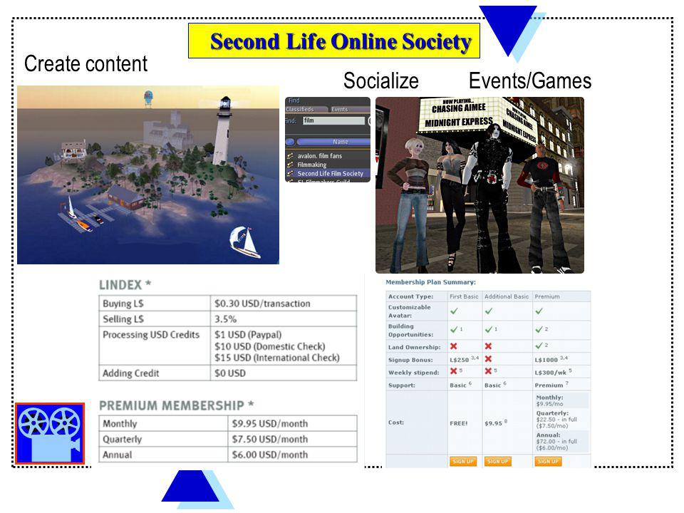Second Life Online Society