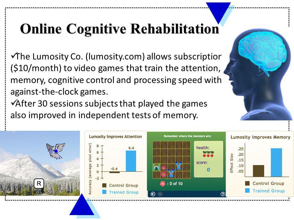 Online Cognitive Rehabilitation
