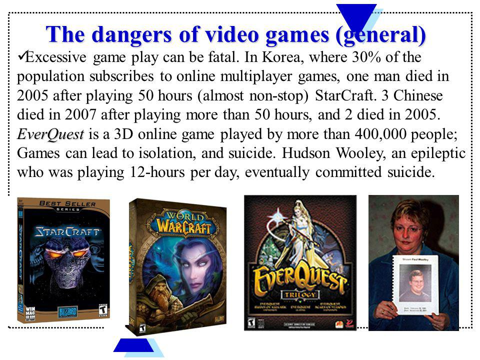 The dangers of video games (general)