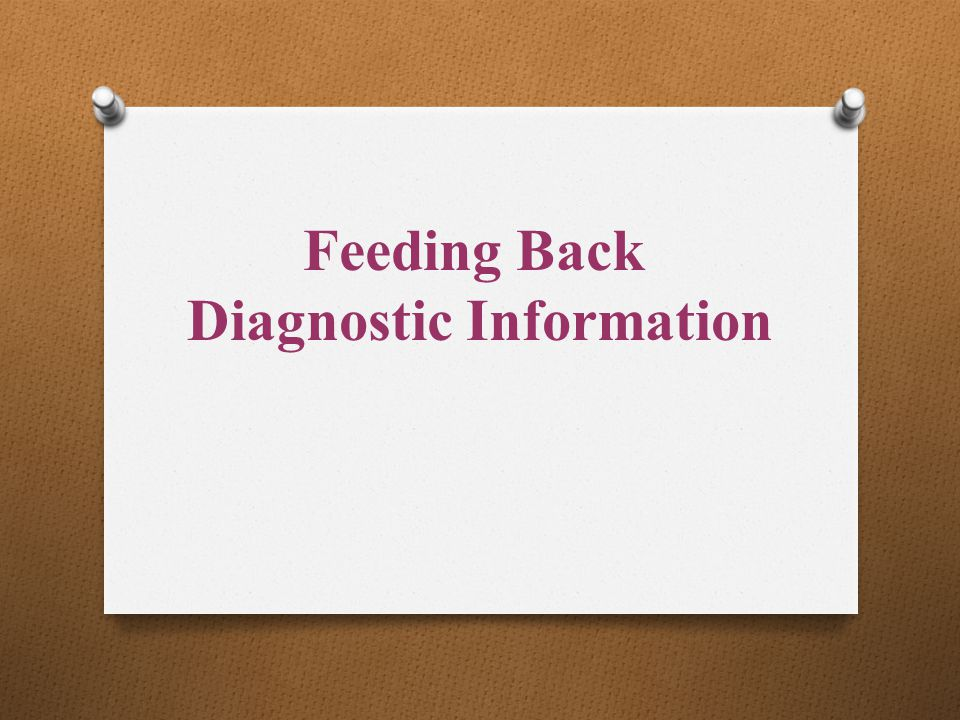 Diagnostic Information