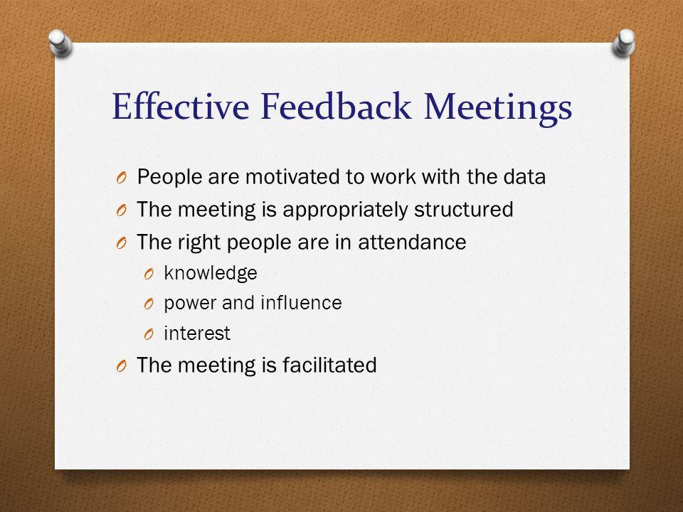 Effective Feedback Meetings