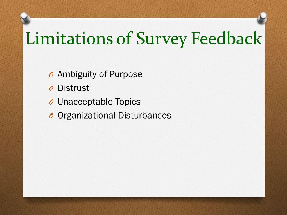 Limitations of Survey Feedback