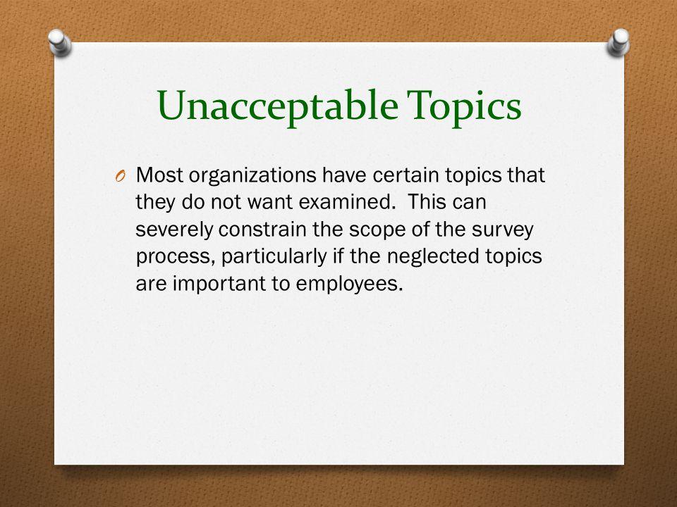 Unacceptable Topics