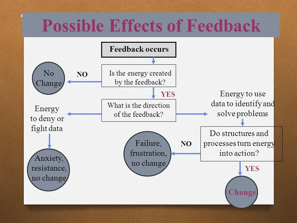 Possible Effects of Feedback