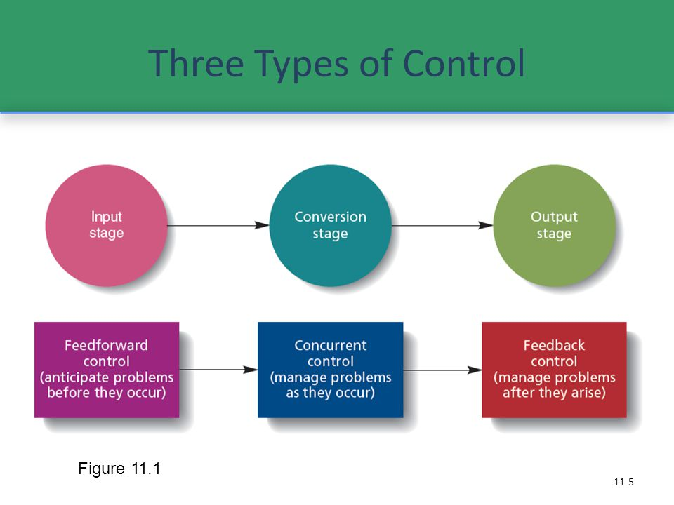 Three Types of Control Figure 11.1 Feed forward Controls