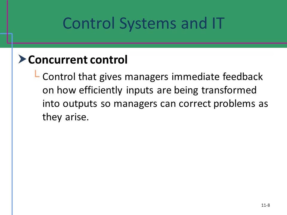 Control Systems and IT Concurrent control