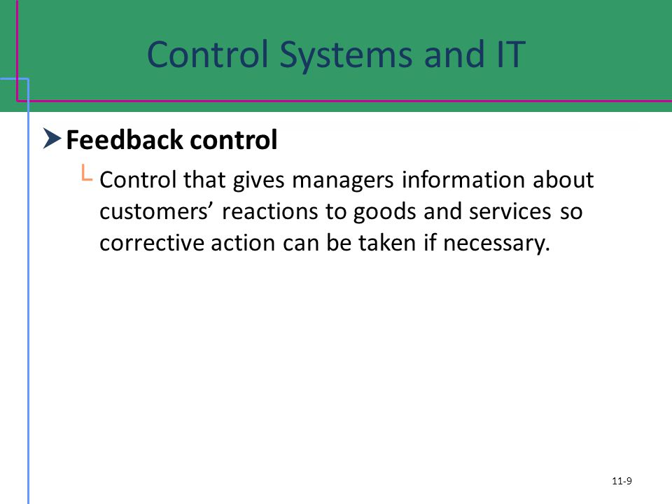 Control Systems and IT Feedback control