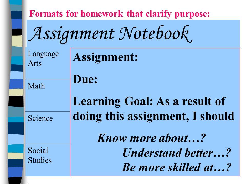 Assignment Notebook Assignment: Due: