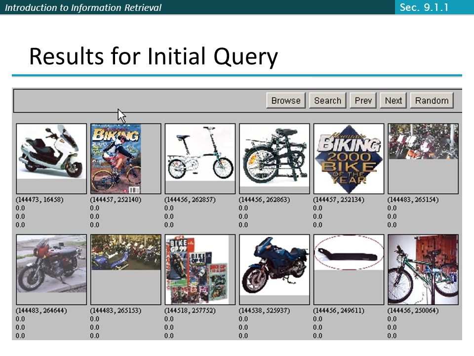 Results for Initial Query