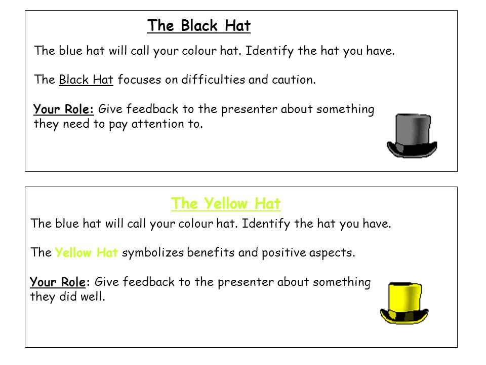 The Black Hat The Yellow Hat