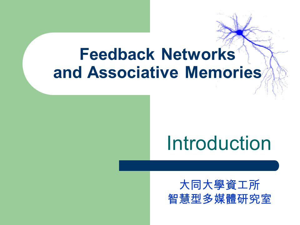 Feedback Networks and Associative Memories