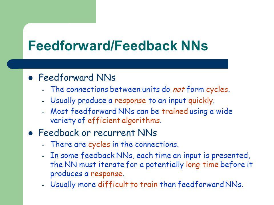Feedforward/Feedback NNs