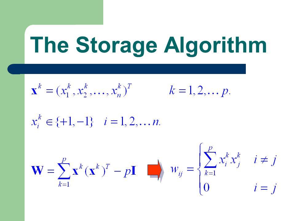 The Storage Algorithm