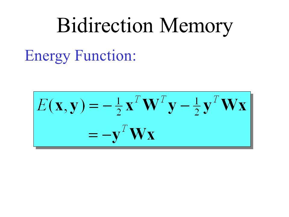 Bidirection Memory Energy Function: