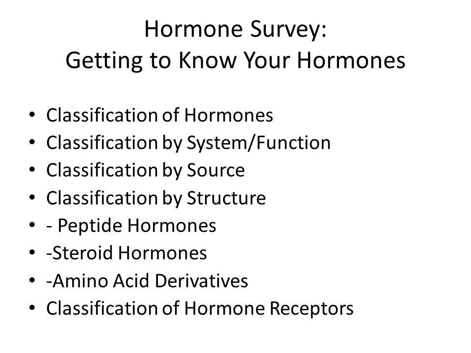 Hormone Survey: Getting to Know Your Hormones