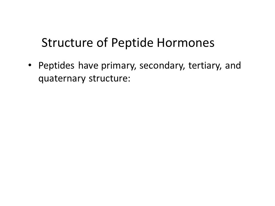 Structure of Peptide Hormones