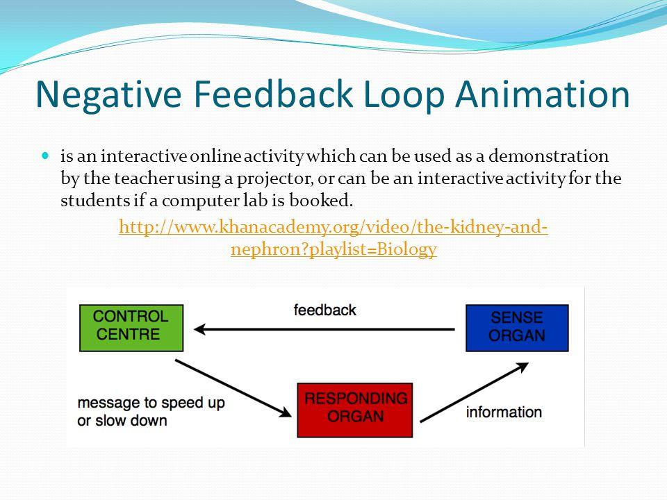 Negative Feedback Loop Animation