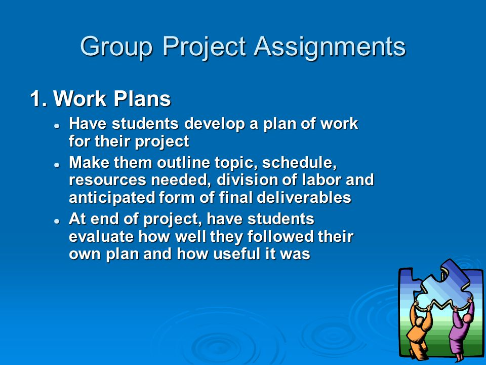 Group Project Assignments