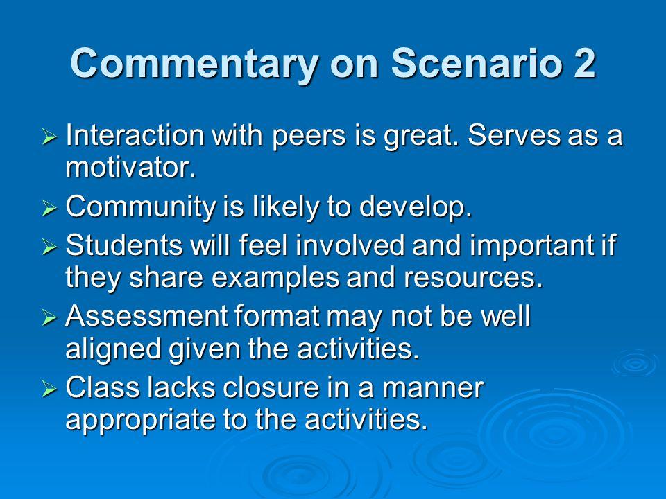 Commentary on Scenario 2