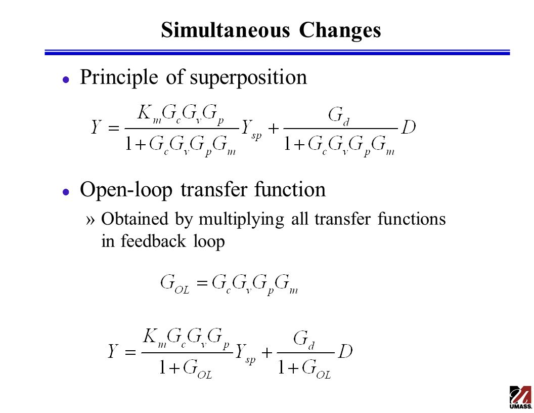 Simultaneous Changes Principle of superposition