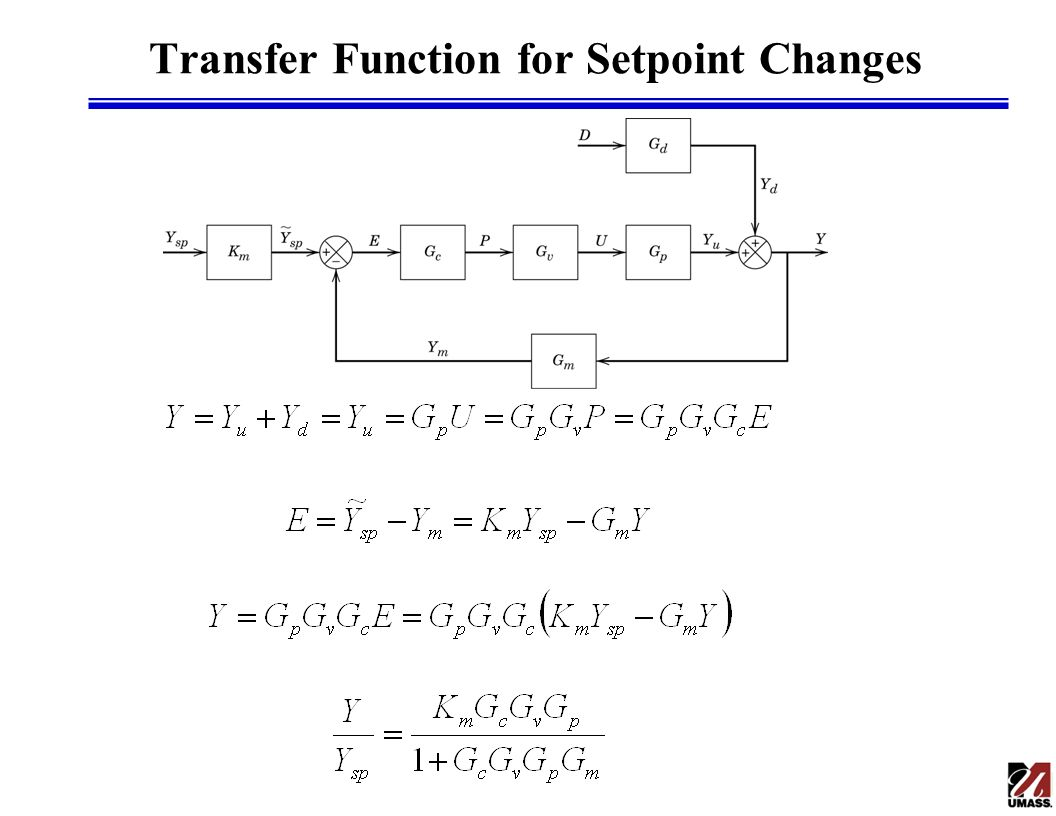 Transfer Function for Setpoint Changes