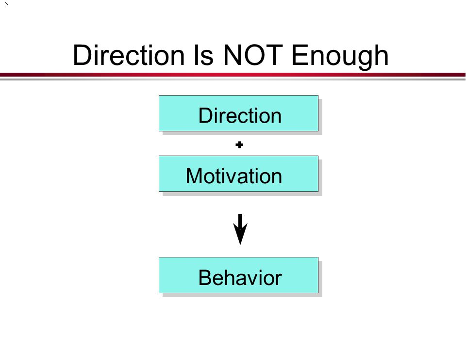 Direction Is NOT Enough