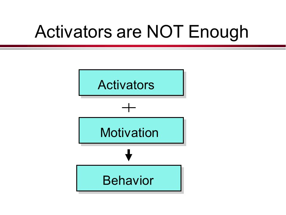 Activators are NOT Enough