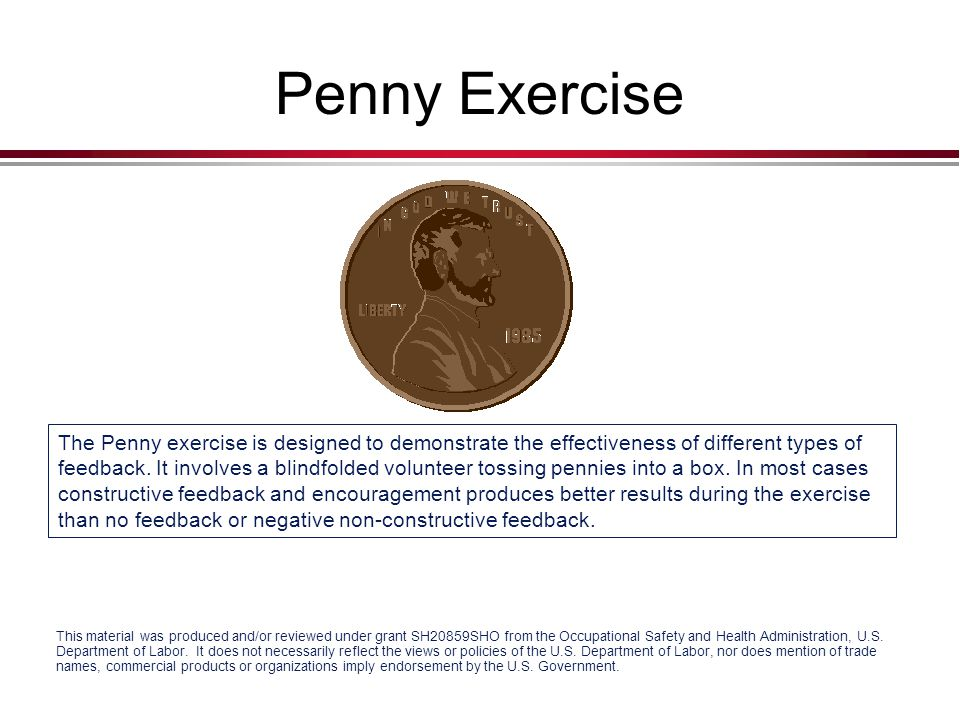 Penny Exercise