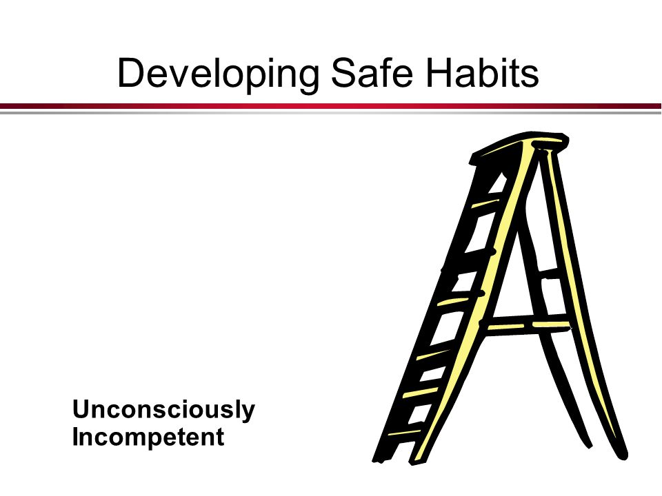 Developing Safe Habits
