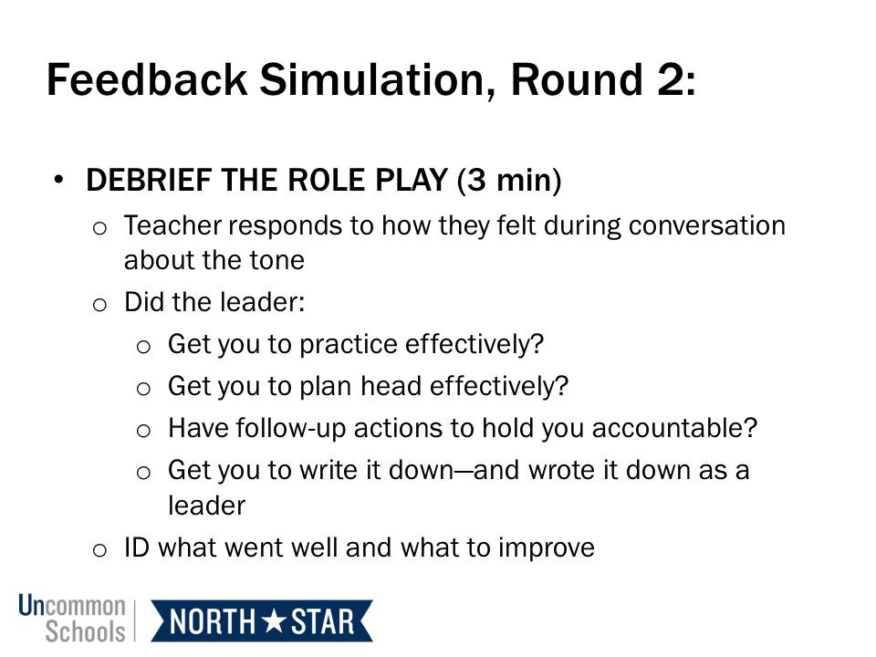 Feedback Simulation, Round 2: