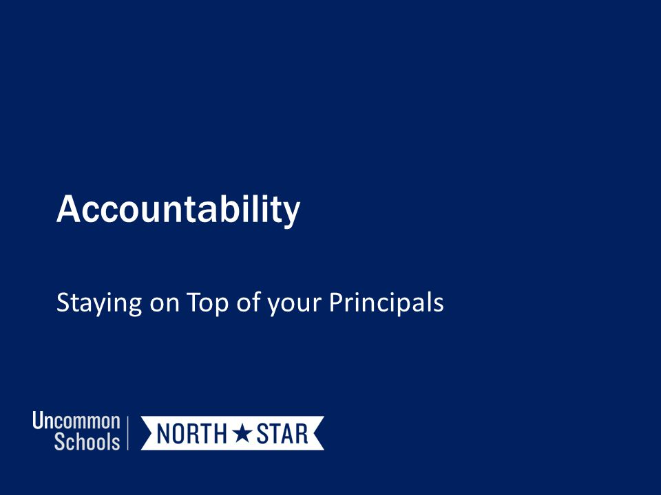 Staying on Top of your Principals