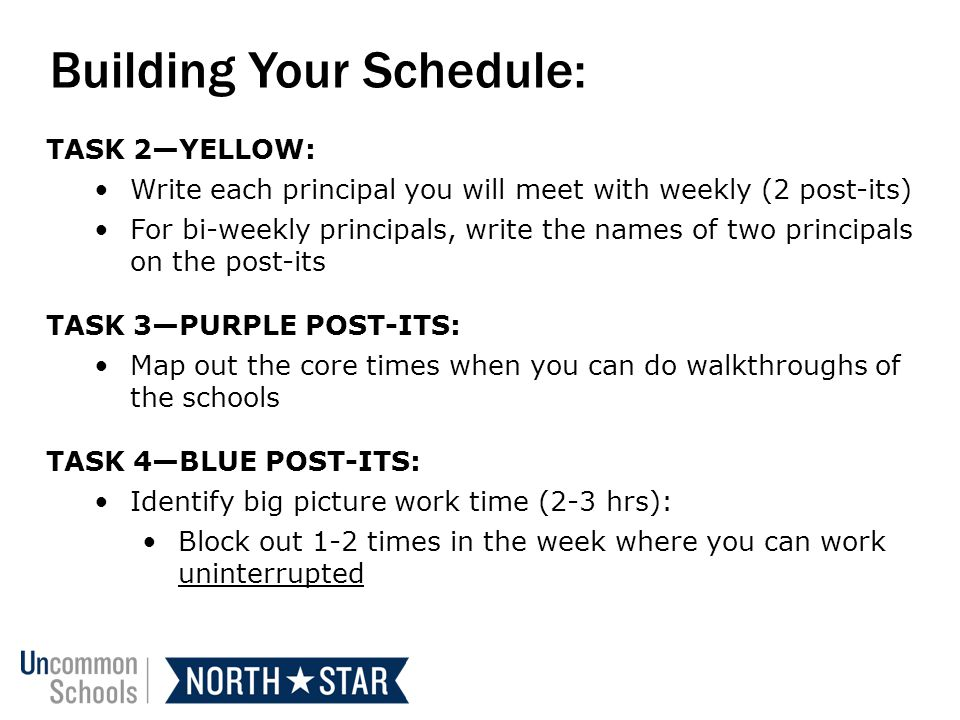 Building Your Schedule: