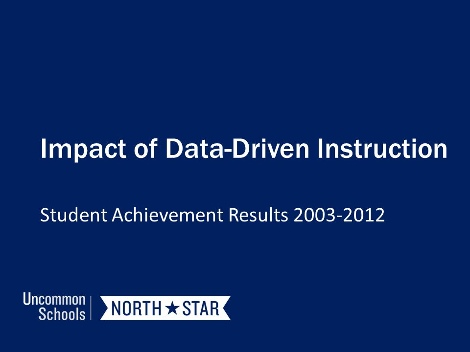 Impact of Data-Driven Instruction