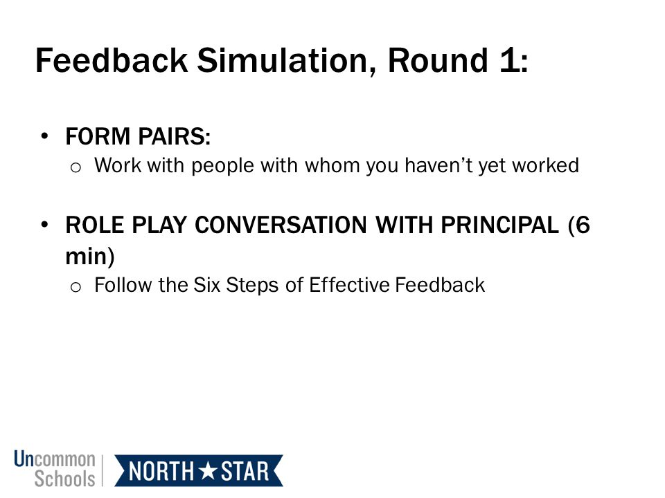 Feedback Simulation, Round 1: