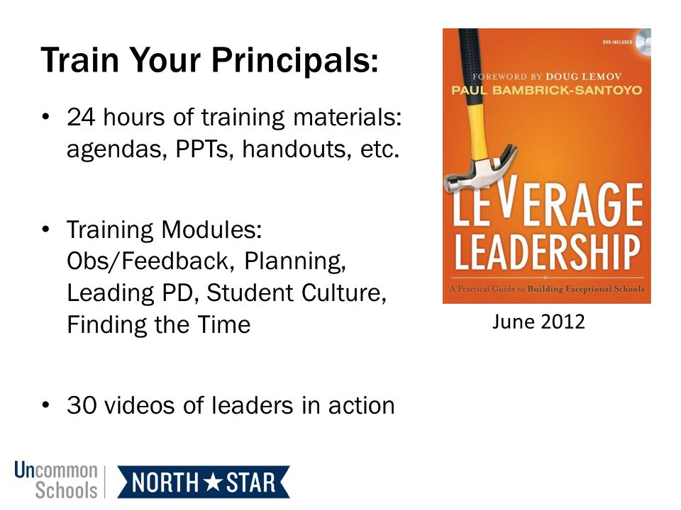 Train Your Principals: