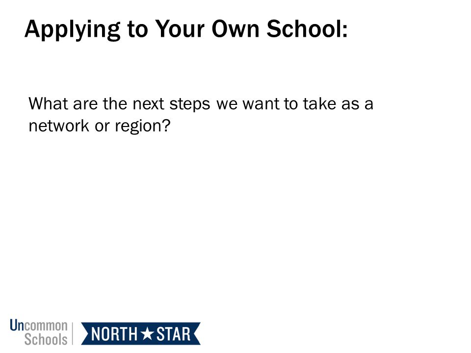 Applying to Your Own School: