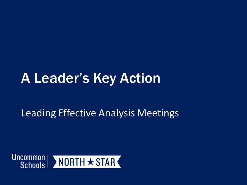 Leading Effective Analysis Meetings