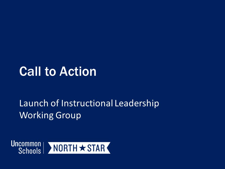 Launch of Instructional Leadership Working Group