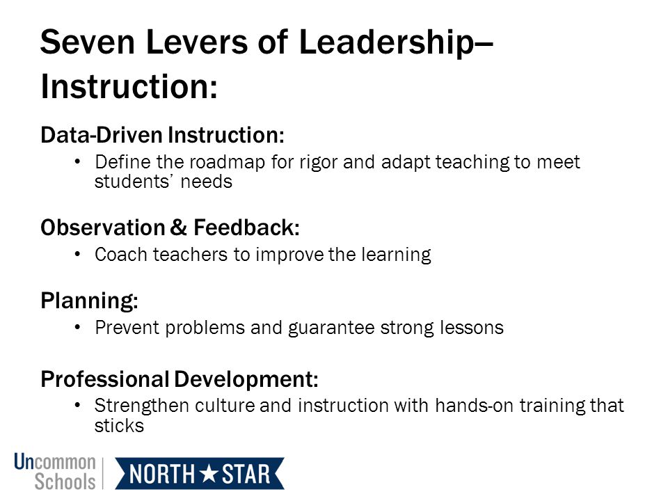 Seven Levers of Leadership--Instruction: