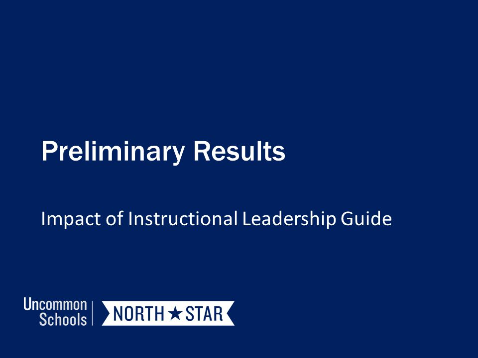 Impact of Instructional Leadership Guide