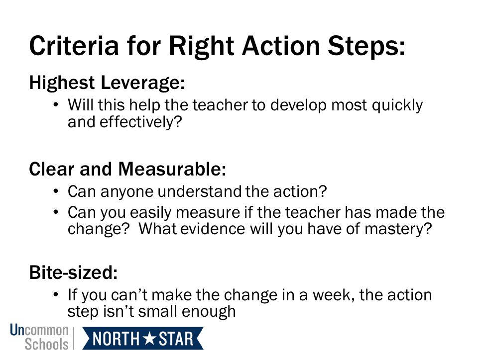 Criteria for Right Action Steps: